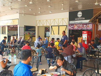 Food court in Mersing Harbour Centre