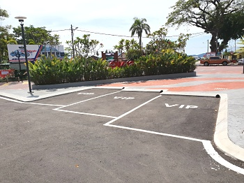 VIP parking at Mersing Harbour Centre